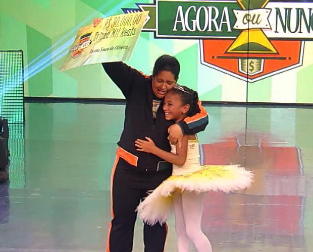 Mãe e filha ganham provas do Agora ou Nunca (Foto: TV Globo)