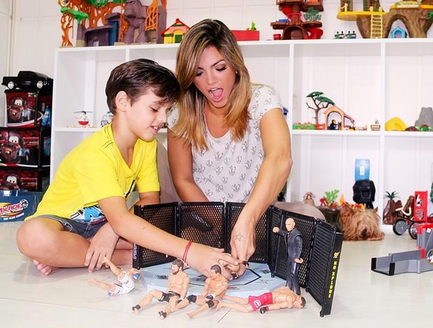 Kelly Key e filhos posam para o EGO (Foto: Luciana Rodrigues/Divulgação)