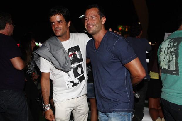 Jorge Pontual e Malvino Salvador no Rock in Rio (Foto: Iwi Onodera/ EGO)