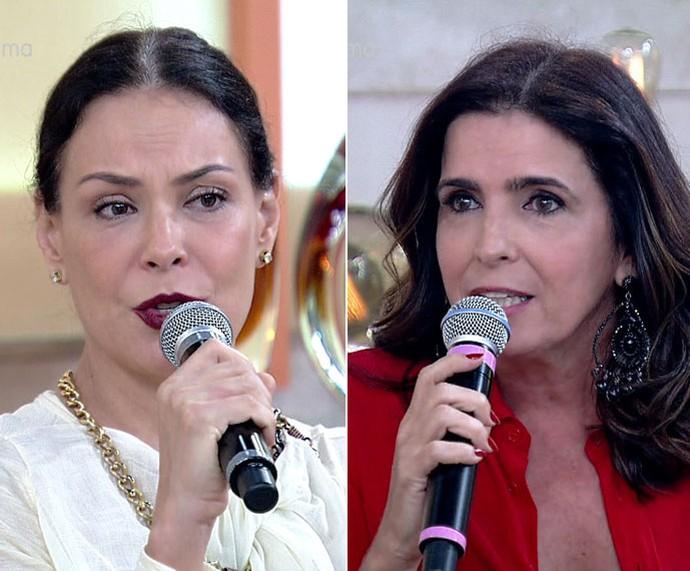 Carolina e Malu: mães e mulheres  (Foto: TV Globo)