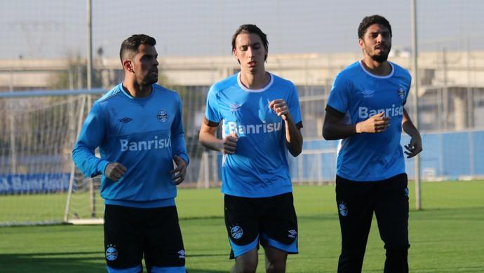 Pedro Geromel Wallace Reis Maicon Grêmio (Foto: Eduardo Moura/GloboEsporte.com)