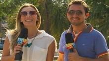 Ricardo Fela e Naty Graciano comandam o Revista de Sábado na TV TEM! (Foto: Reprodução / TV TEM)