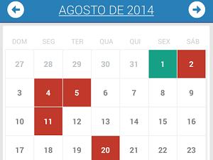 No Minhas Finanças, movimentações são em um calendário (Foto: Reprodução)