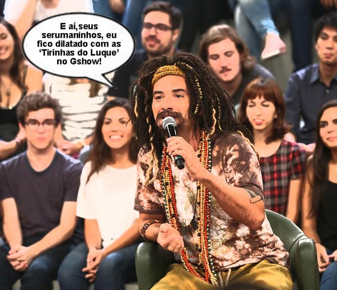 Marco Luque interpreta Mustafary no 'Altas Horas' (Foto: Carol Caminha/Gshow)