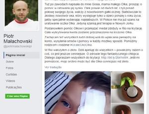 Piotr Malachowsk postagem de leilão da medalha (Foto: Reprodução)