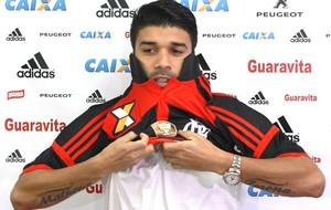 Eduardo da Silva Apresentação Flamengo (Foto: Gilvan de Souza / Flamengo)