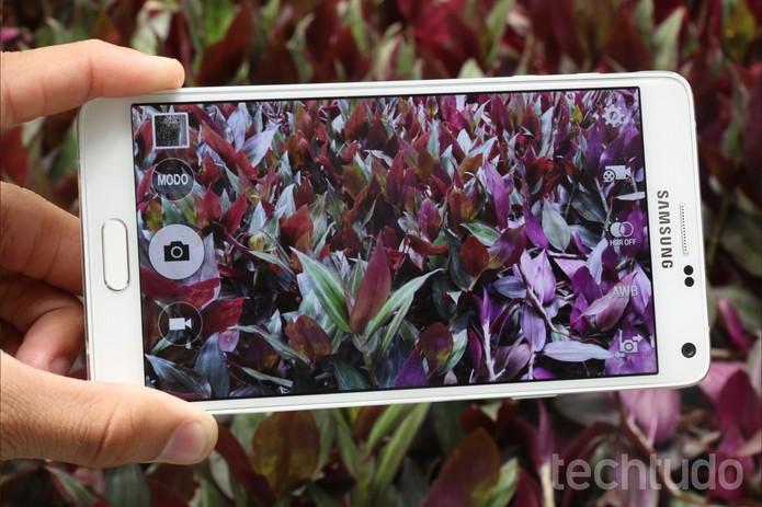 Interface da câmera do Galaxy Note 4 (Foto: Lucas Mendes/TechTudo)