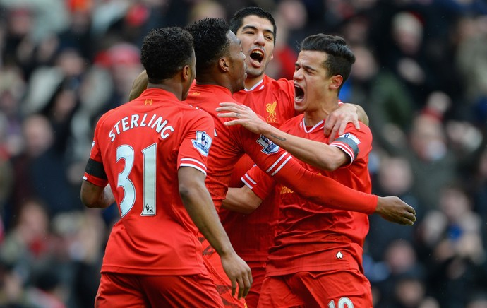 Philippe Coutinho comemora, Liverpool x Arsenal (Foto: Getty Images)