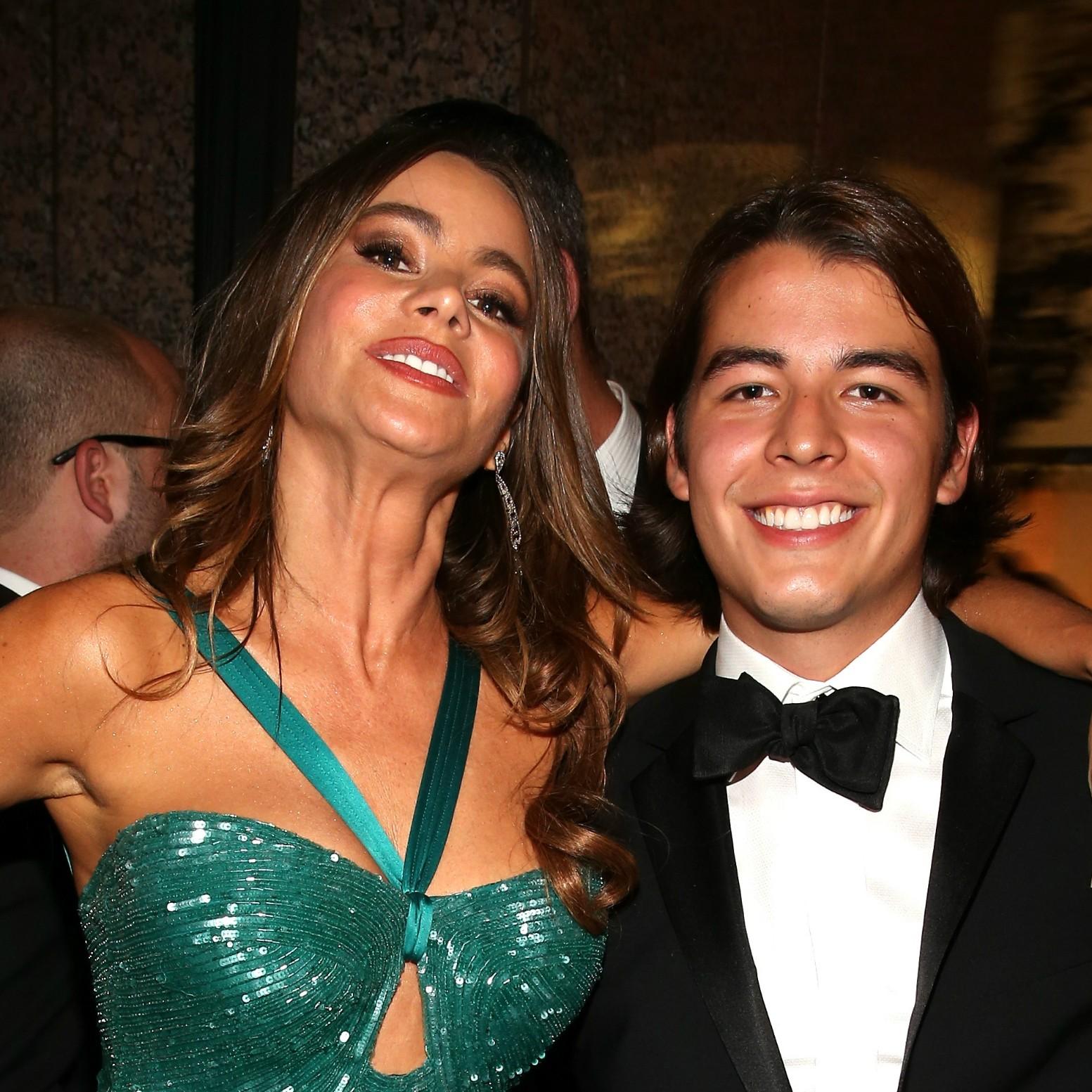 A atriz Sofía Vergara criou o filho único, Manolo. (Foto: Getty Images)