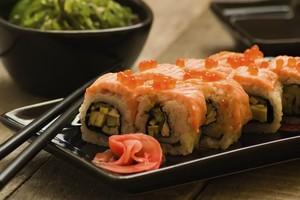 Sushi de salmão e gengibre (Foto: Thinkstock)