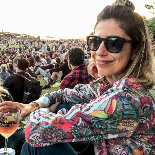 Carol Soares no festival Nos primavera, no porto, em Portugal (Foto: Divulgação/ Arquivo Pessoal)