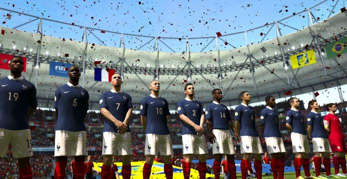 Seleção da França no Copa do Mundo da FIFA Brasil 2014 (Foto: Divulgação/EA)