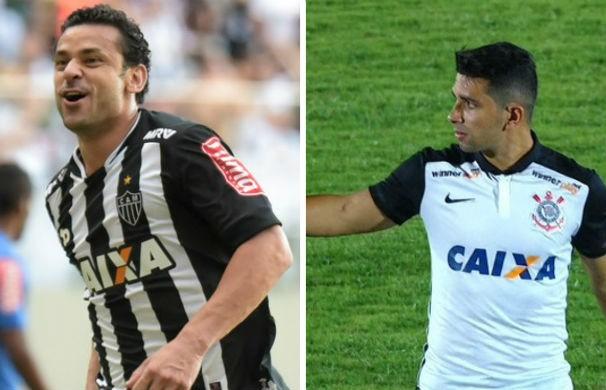 Atlético enfrenta o Corinthians no Mineirão (Foto: montagem/GE)