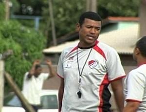 Júnior Baiano, técnico do Santa Helena (Foto: Reprodução/TV Anhanguera)