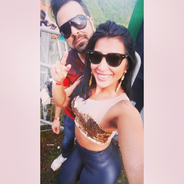 Ex-BBB Priscila com o marido, Bruno Andrade (Foto: Instagram)
