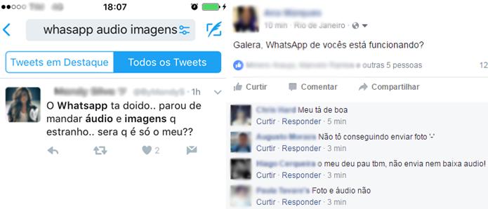 WhatsApp apresenta instabilidades para enviar fotos e áudios (Foto: Reprodução/Ana Marques)