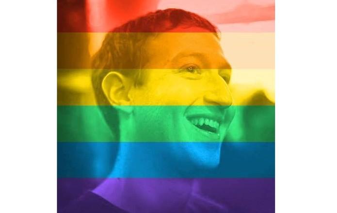 Mark Zuckerberg também entrou na onda e colocou a foto de perfil com o filtro arco-íris (Foto: Divulgação/Mark Zuckerberg)