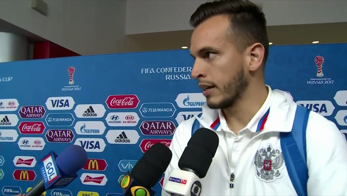 Guilherme, goleiro da Rússia (Foto: Reprodução SporTV)