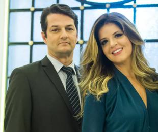 Marcelo Serrado e Mariana Santos   TV Globo