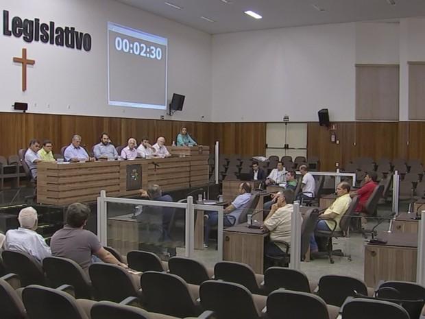 Audiência aconteceu na Câmara Municipal de Itapetininga (Foto: Reprodução/TVTEM)