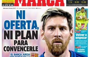 Jornal diz que Barça não tem oferta  ou plano para renovar com Messi