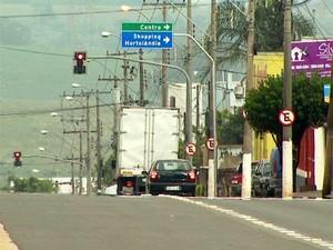 Avenida Santana, em Hortolândia (Foto: Reprodução EPTV)