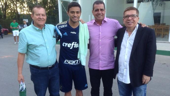 Rafael Tenório, Cleiton Xavier, Raimundo Tavares e João Feijó (Foto: Assessoria/CSA)