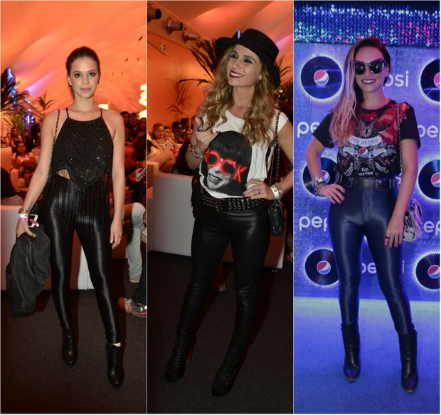 Look das famosas no Rock in Rio 2015: Bruna Marquezine, Giovanna Antonelli e Suzana Pires (Foto: Ag.News/PhotoRio/Ego)