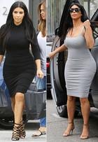 Kim Kardashian não abre mão dos looks sensuais na segunda gravidez