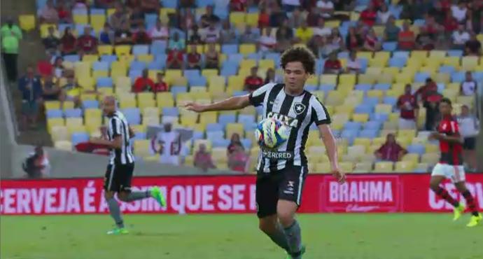 Camilo deu belo lençol em Willian Arão e está na enquete dos abusados (Foto: Reprodução/SporTV)