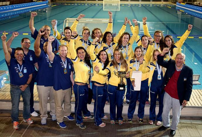 Polo aquático feminino- seleção campeã (Foto: Satiro Sodré/CBDA)