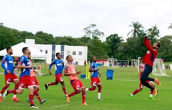 Bahia fecha preparação para pegar o JEC com treino tático; Feijão é vetado