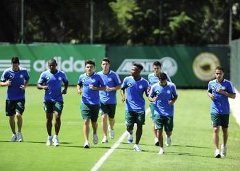 jogadores Palmeiras treino grupo Palmeiras (Foto: Marcos Ribolli)