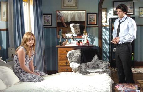 Em 'Sete pecados', Clarice (Giovanna Antonelli) e Dante (Reynaldo Gianecchini) eram infernizados por Beatriz (Priscila Fantin) Fabricio Mota/ TV Globo