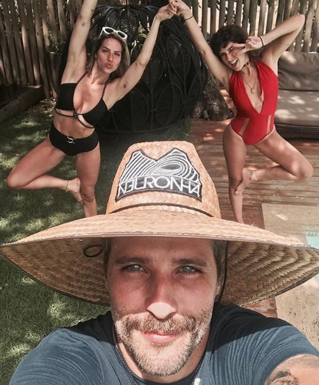 Bruno Gagliasso, Giovanna Ewbank e Fernanda Paes Leme (Foto: Reprodução/Instagram)