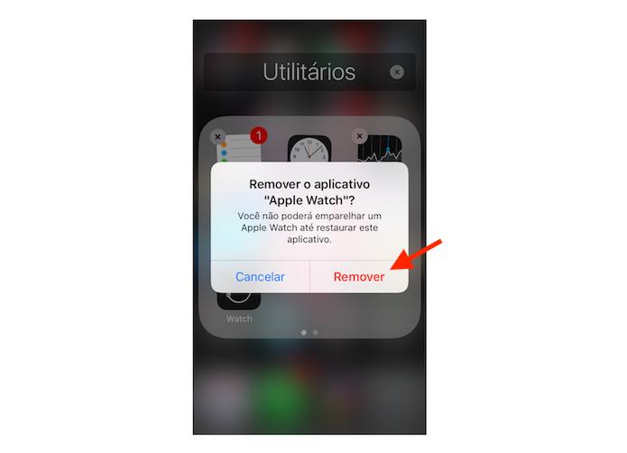 Remoção de um aplicativo nativo do iOS 10 (Foto: Reprodução/Marvin Costa)