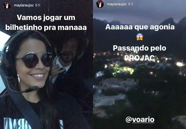 Mayla Araújo curtiu passeio e helicóptero com Diego Aguiar (Foto: Reprodução/Instagram)