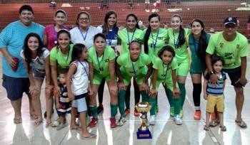 SRT, campeã do Acreano de Futsal Sub-20 (Foto: Rafael Vale/arquivo pessoal)