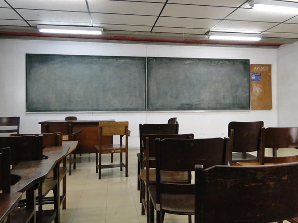 Sala de aula na Universidade Federal de Minas Gerais