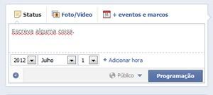 Facebook agora permite programar posts em páginas (Foto: Reprodução)