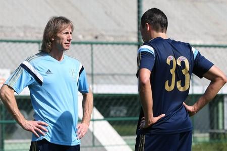 Ricardo Gareca Lúcio Palmeiras (Foto: Cesar Greco/Ag Palmeiras/Divulgação)