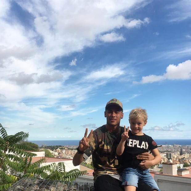 Neymar e o filho, Davi Lucca (Foto: Instagram / Reprodução)