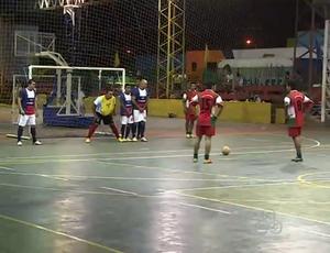 Disputa de futsal na Jocom (Foto: Reprodução/TV Rondônia)