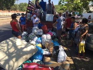 Mobilização de doações foi feita pela internet (Foto: Vinicius Vainner/ TV Clube)