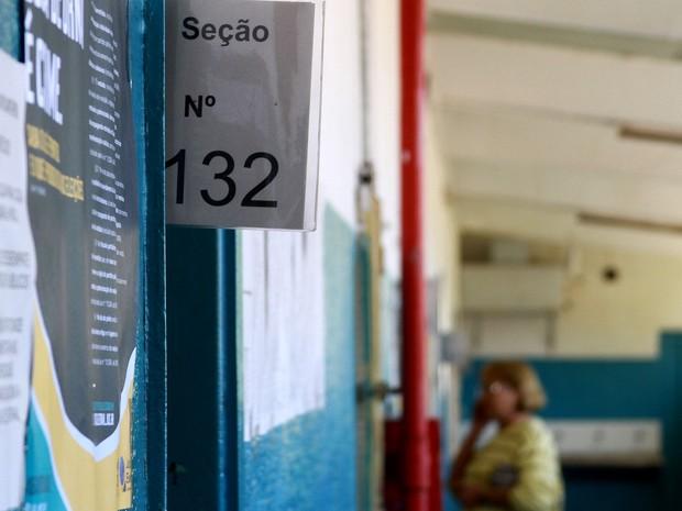 Eleitora espera para votar em Campinas (Foto: Janaína Ribeiro)