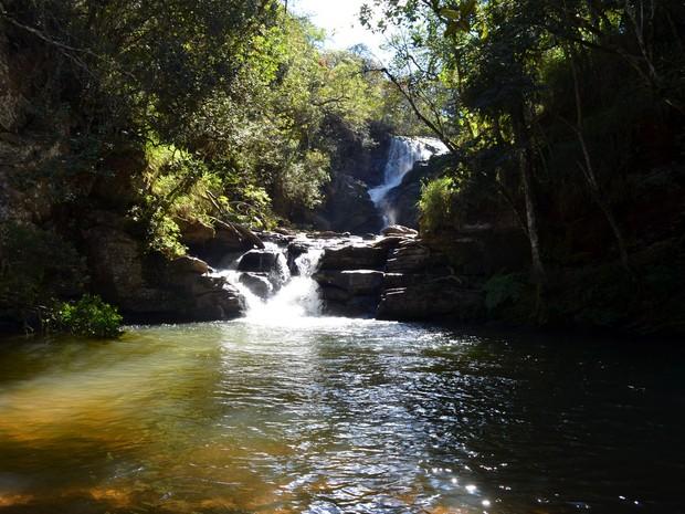 São Tomé das Letras tem oito cachoeiras: Véu da Noiva é uma delas (Foto: Tiago Campos / G1)