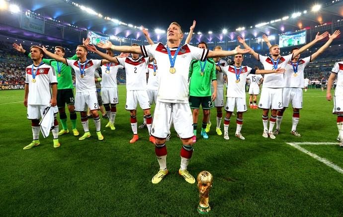 Bastian Schweinsteiger comemoração Alemanha Copa do Mundo (Foto: Getty Images)