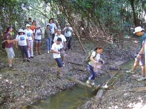 Oficina de treinamento no Parque estadual do Cantão  (Foto: Associação Onça D'água/Divulgação)