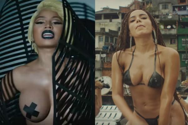 Assim como Anitta, Nicki Minaj usou fita isolante em videoclipe (Foto: Reprodução Youtube)