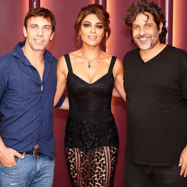 Marcelo faria, Juliana Paes e Pedro Vasconcellos (Foto: Reprodução/Instagram)
